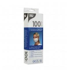 Защитная одноразовая маска двухслойная (100 шт)