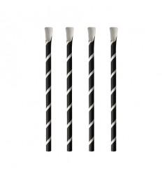 Бумажные трубочки с ложечкой (100 шт)