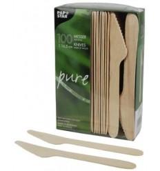 Нож столовый деревянный (100 шт)