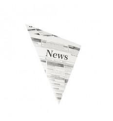"""Бумажный уголок для картошки фри """"Newsprint"""" (1000 шт)"""