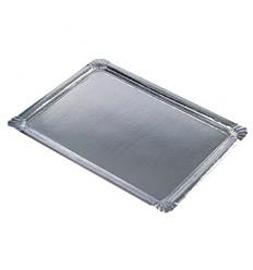 Поднос бумажный серебряный (10 шт)