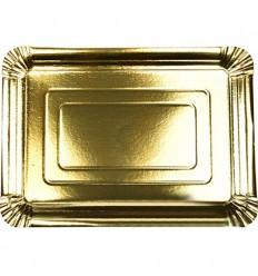 Поднос бумажный золотой