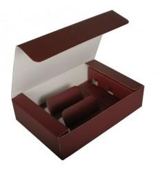 Картонная коробка для 3 бутылок вина
