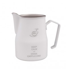 """Pitcher alb """"Keep Calm and Drink Coffee"""""""