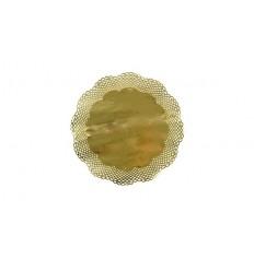 Салфетка круглая золотого цвета (4 шт)