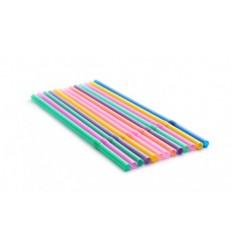 Трубочка с изгибом для сока/воды разноцветная 250 шт