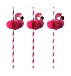 Трубочка с фламинго (100 шт)