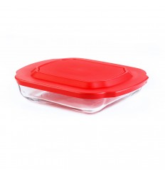 Стеклянная форма + пластмассовая крышка