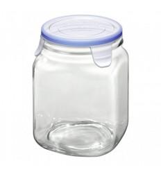 """Стеклянная банка с пластмассовой крышкой для сыпучих продуктов """"Vaso"""""""