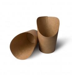 Упаковка для картофеля фри малая КрафтECO Snack Cup L
