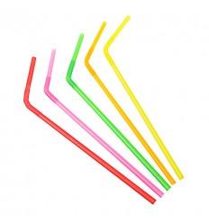 Трубочка разноцветная с изгибом для сока/воды