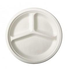 Бумажная 3-х секционная тарелка (50 шт)