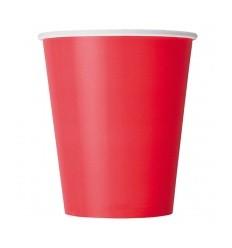 Стакан бумажный 250 ml красный 50 шт