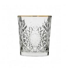 "Hobstar Gold Rim pahar pentru whisky ""Libbey"""