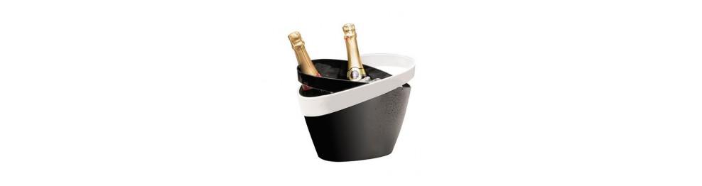 Ведерки для льда и шампанского, совки для льда